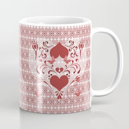 Folk Art Heart and Swirls Coffee Mug