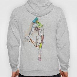 The Male Dancer, nude anatomy, NYC artist Hoody