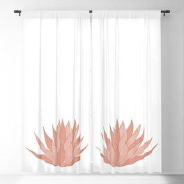 Pink Succulent Blackout Curtain