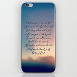 Love of God iPhone Skin