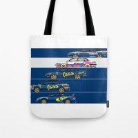 subaru Tote Bags featuring Colin McRae, The Subaru Years by Ricardo Santos