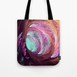 Towards The Light - Alice in Wonderland - White Rabbit - Fractal Tote Bag