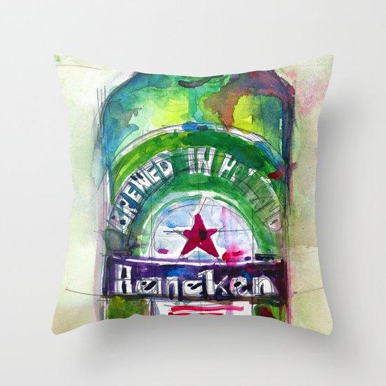 Heineken Beer, Happy Friday Throw Pillow