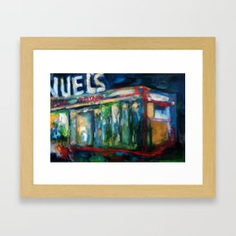 The Gaslight Lounge, Oil On Canvas Framed Art Print