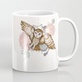 Attacking barn owl watercolor Coffee Mug