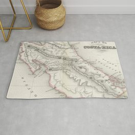 Vintage Map of Costa Rica (1851) Rug