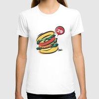 hamburger T-shirts featuring Hamburger by skyboysv