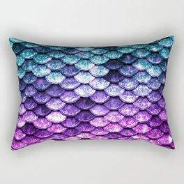 Mermaid Tail Dark Unicorn Rectangular Pillow