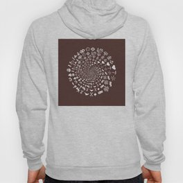 For the Love of Chocolate: Love Symbols Mandala Hoody