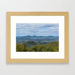 Blue Ridge Parkway - Hominy Valley Framed Art Print
