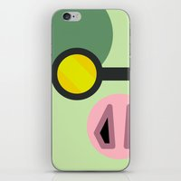 animal crossing iPhone & iPod Skins featuring Animal Crossing Cobb by Rebekhaart