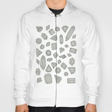 doodle crystals on white Hoody