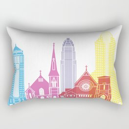 Charlotte skyline pop Rectangular Pillow
