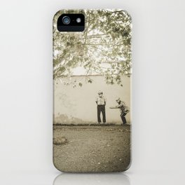Petanque in Italy Pisa Tuscany iPhone Case