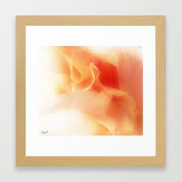 Abstract rose Framed Art Print