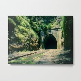 Train Tunnel Entrance Metal Print