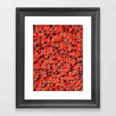 Quilted Reds / Retro Triangles Framed Art Print