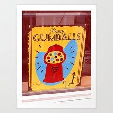 Penny Gumballs Art Print