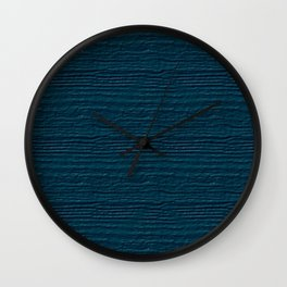 Blue Coral Wood Grain Color Accent Wall Clock