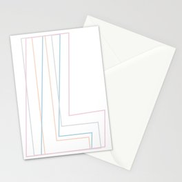 Intertwined Strength and Elegance of the Letter L Stationery Cards