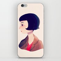 amelie iPhone & iPod Skins featuring Amelie by Nan Lawson
