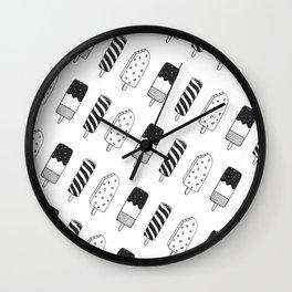 Summer Ice Lollies Wall Clock
