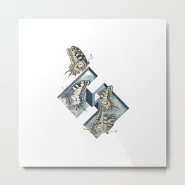 Optical illusion and butterflies Metal Print
