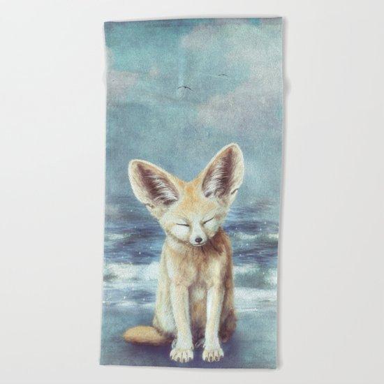 A Fennec's Dream Beach Towel