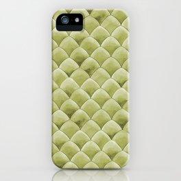 Green Snakeskin-ish Tessallation iPhone Case