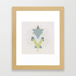Grow Strong Mandala Framed Art Print