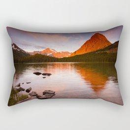 Swiftcurrent Lake, Glacier National Park Rectangular Pillow