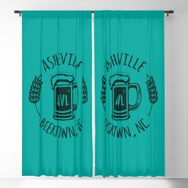 Asheville Beer T-Shirt - Turquoise Green Blackout Curtain