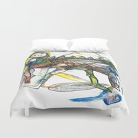 wings Duvet Covers featuring Wings by Dawn Patel Art