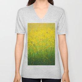 Field green yellow Unisex V-Neck