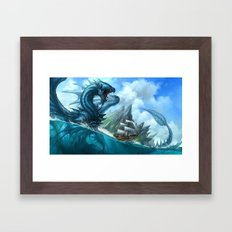 Blue Dragon Framed Art Print