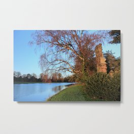 Peaceful River Sow Metal Print