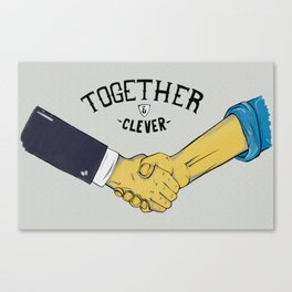 Together and Clever Canvas Print