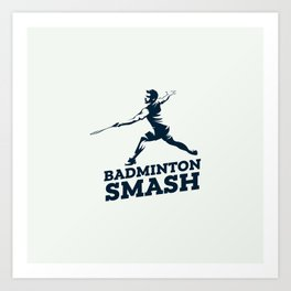 Badminton Player Art Print
