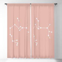 Sagittarius Zodiac Constellation - Pink Rose Blackout Curtain
