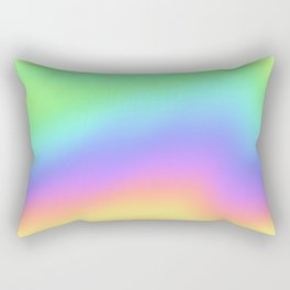 Holographic Foil Colorful Gradient Pattern Rectangular Pillow