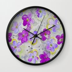 Radiant Orchid Print Wall Clock