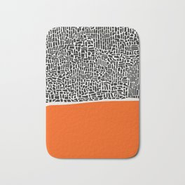 City Sunset Abstract Bath Mat