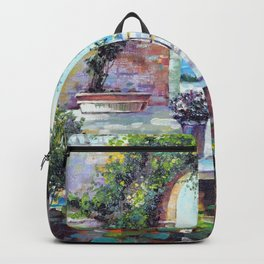 Cozy courtyard Backpack