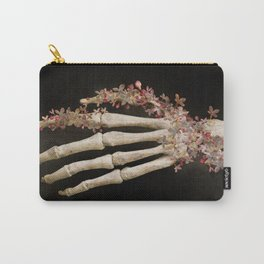 """""""Spring 1"""" skull and flowers Carry-All Pouch"""