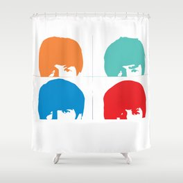 Fab 4 of Liverpool Shower Curtain