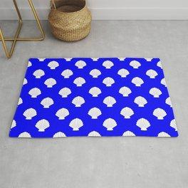 Seashells (White & Blue Pattern) Rug