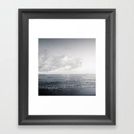 calm day ver.black Framed Art Print