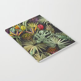 Tropical pattern on black Notebook