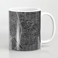paris map Mugs featuring Paris map by Le petit Archiviste