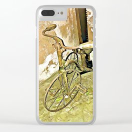 Once Upon a Time - Toy Trike Clear iPhone Case